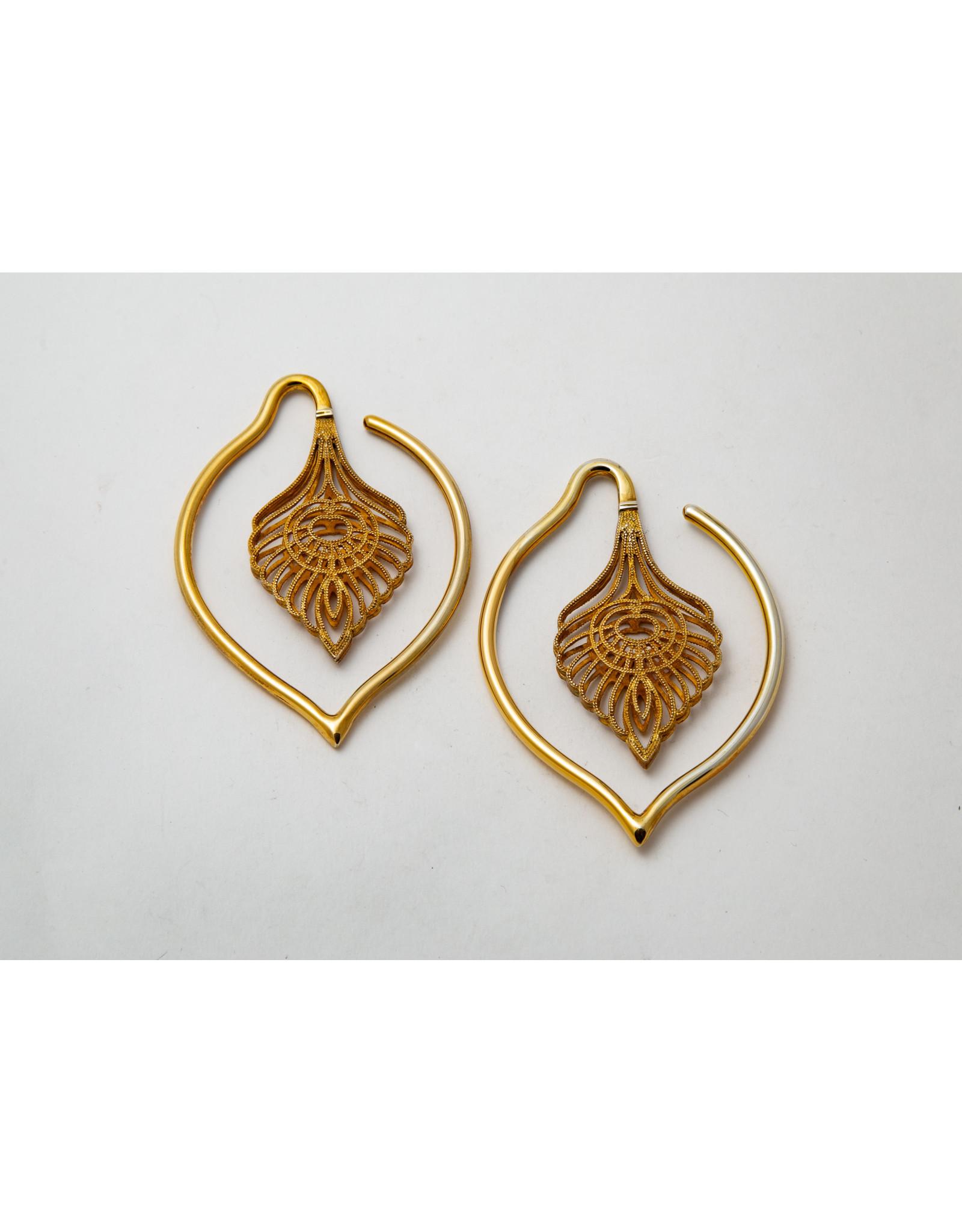 "Maya Jewelry Maya yellow gold plate ""Kavadi"" hanging design"