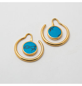 "Maya Jewelry Maya Yellow Gold Plate & Turquoise ""Eye of the beholder"""