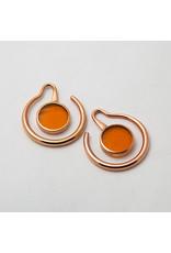 "Maya Jewelry Maya rose gold plate & amber ""Eye of the beholder"" hanging design"