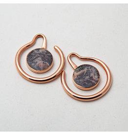 "Maya Jewelry Maya Rose Gold Plate & Porcelain Jasper ""Eye of the Beholder"""