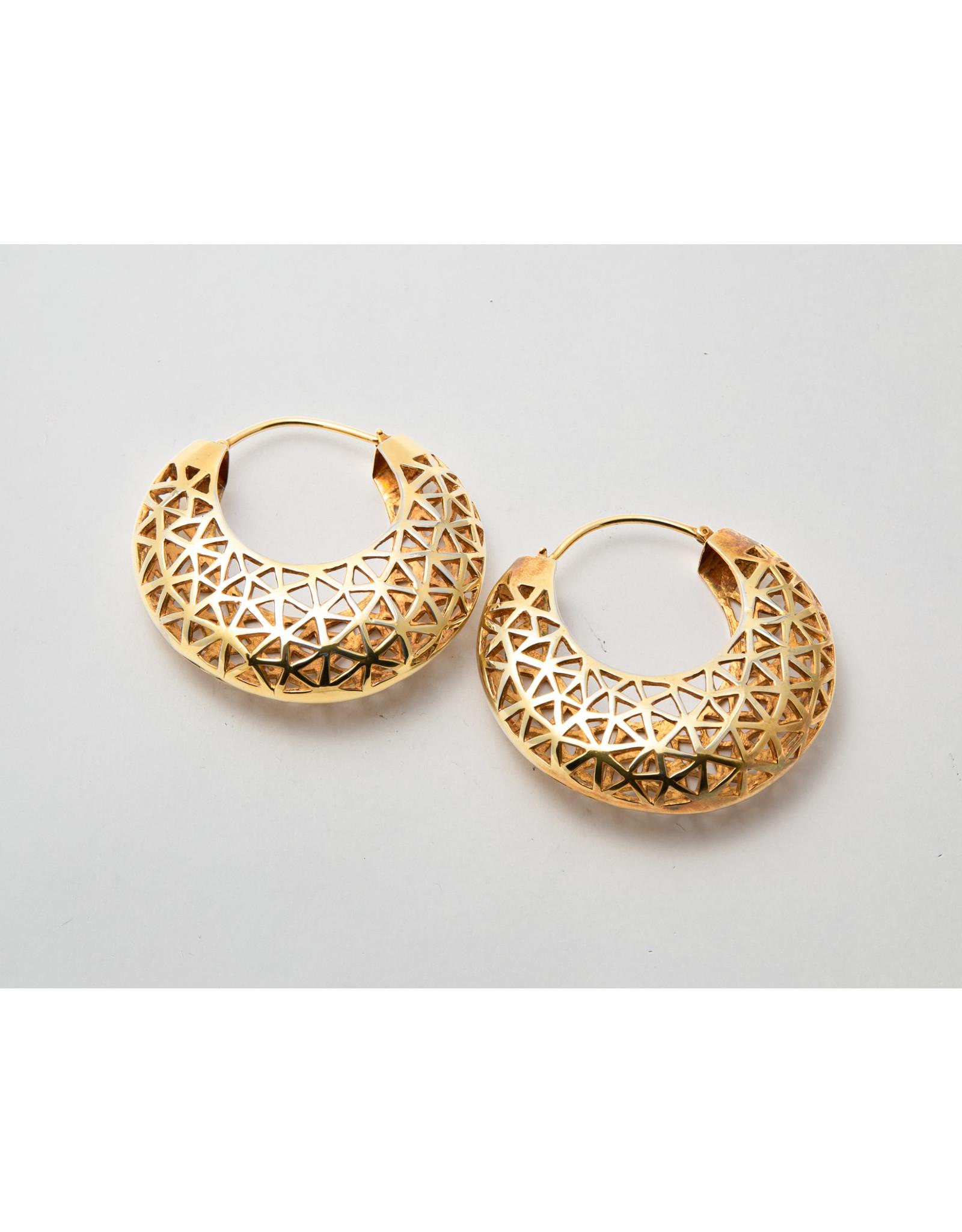 """Maya Jewelry Maya yellow gold plate """"Stayin' Alive"""" hanging design"""