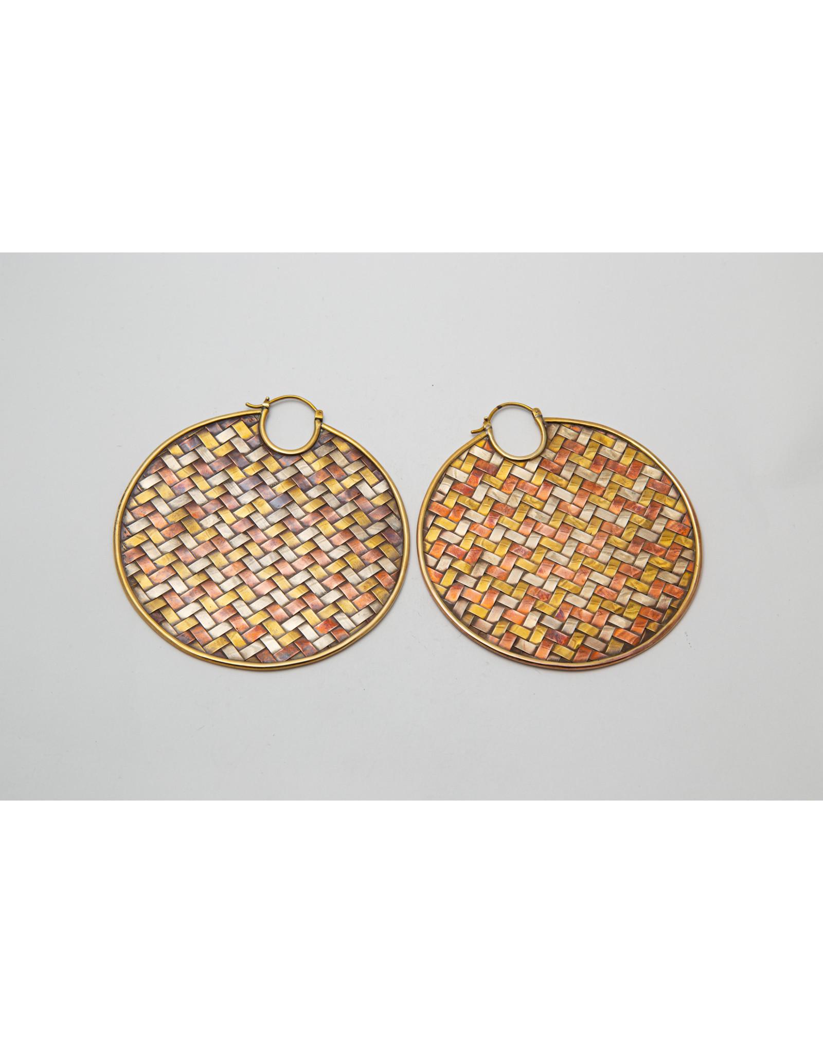 """Maya Jewelry Maya mixed metal large """"Nile"""" hanging design"""