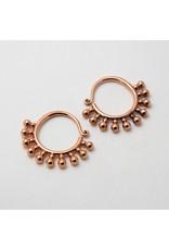 "Maya Jewelry Maya rose gold plate small ""Punks Not Dead"" hanging design"