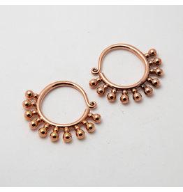 """Maya Jewelry Maya Rose Gold Plate Small """"Punks Not Dead"""""""