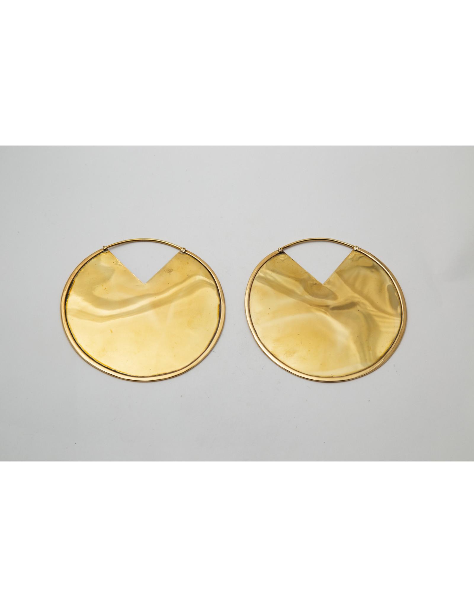 """Maya Jewelry Maya brass """"Reflect"""" hanging design"""