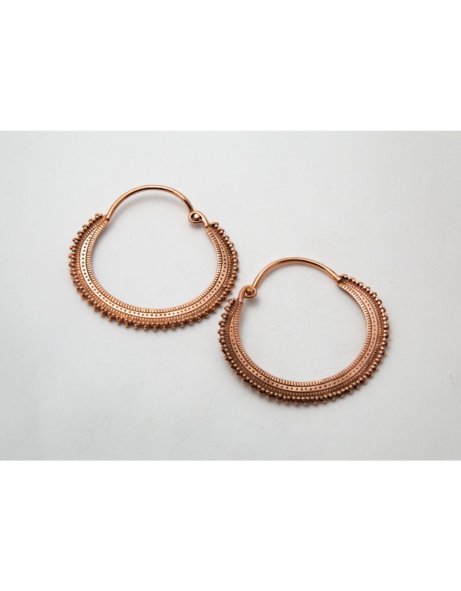 "Maya Jewelry Maya rose gold plate ""Afghan"" hanging design"