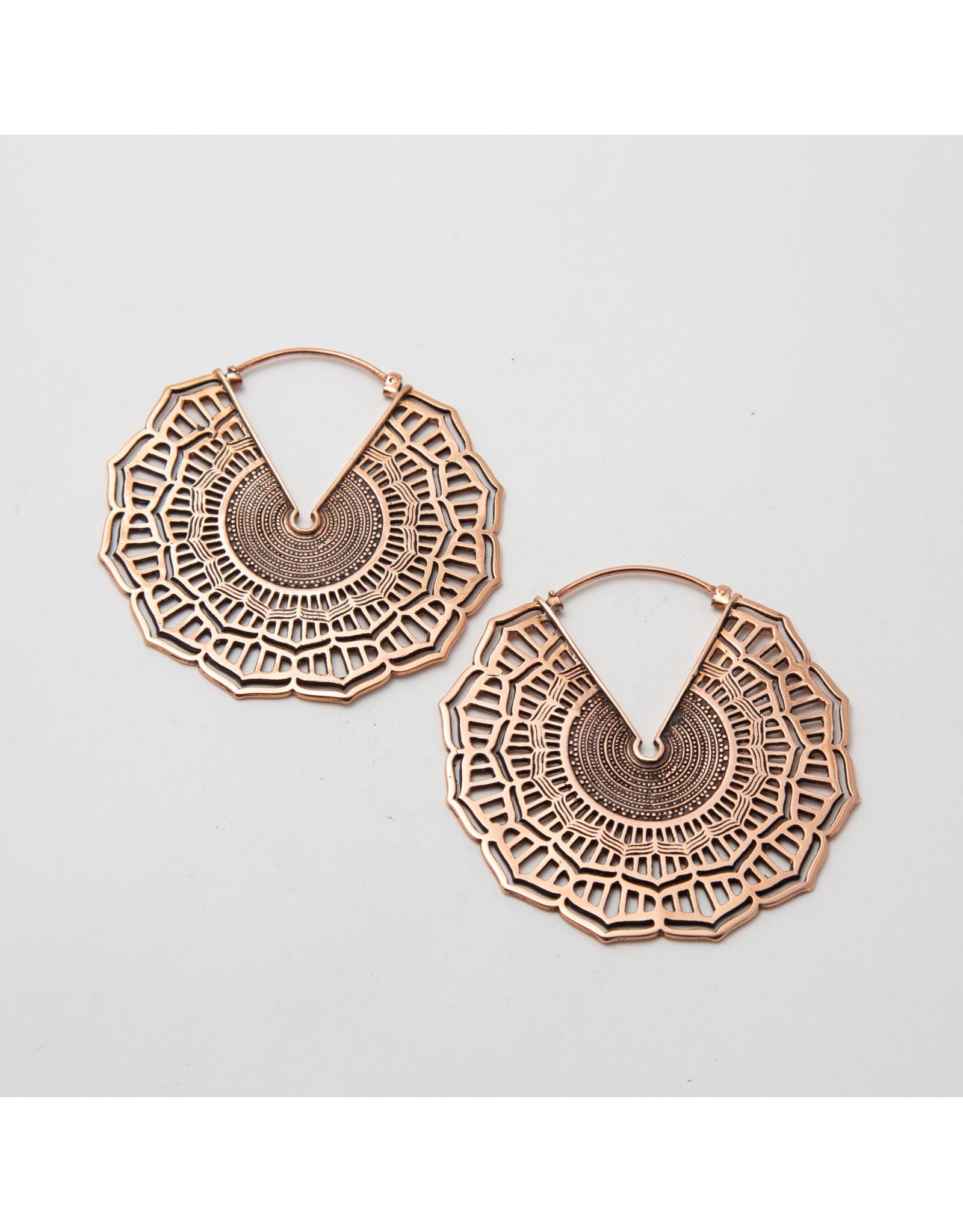 """Maya Jewelry Maya rose gold plate """"Reyes"""" hanging design"""