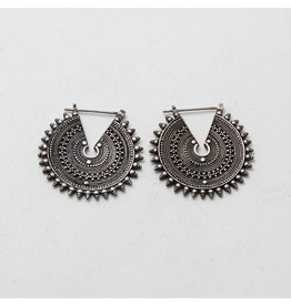 """Maya Jewelry Maya Silver """"The Queens"""" Traditional Earring"""