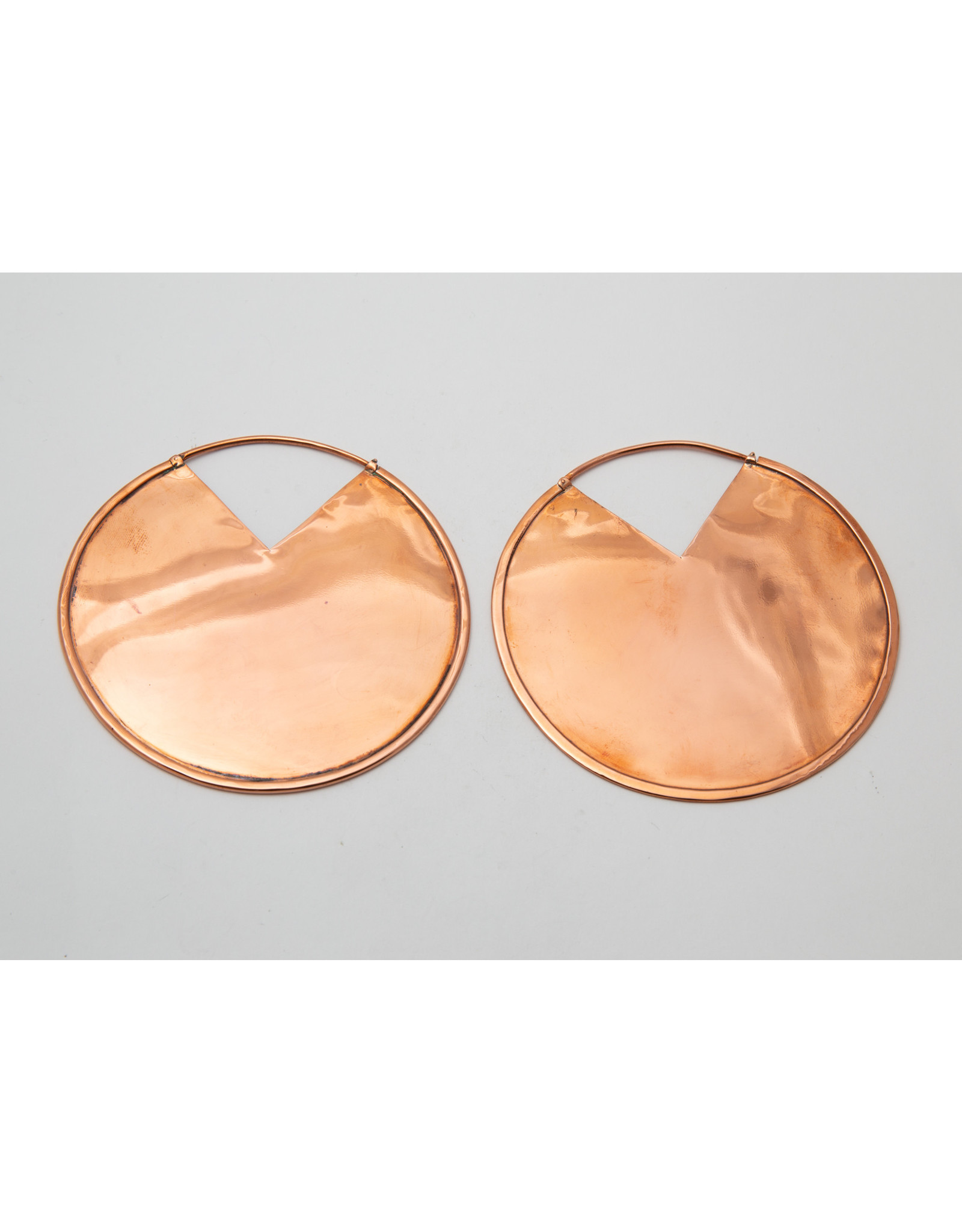 "Maya Jewelry Maya copper ""Reflect"" traditional earring"
