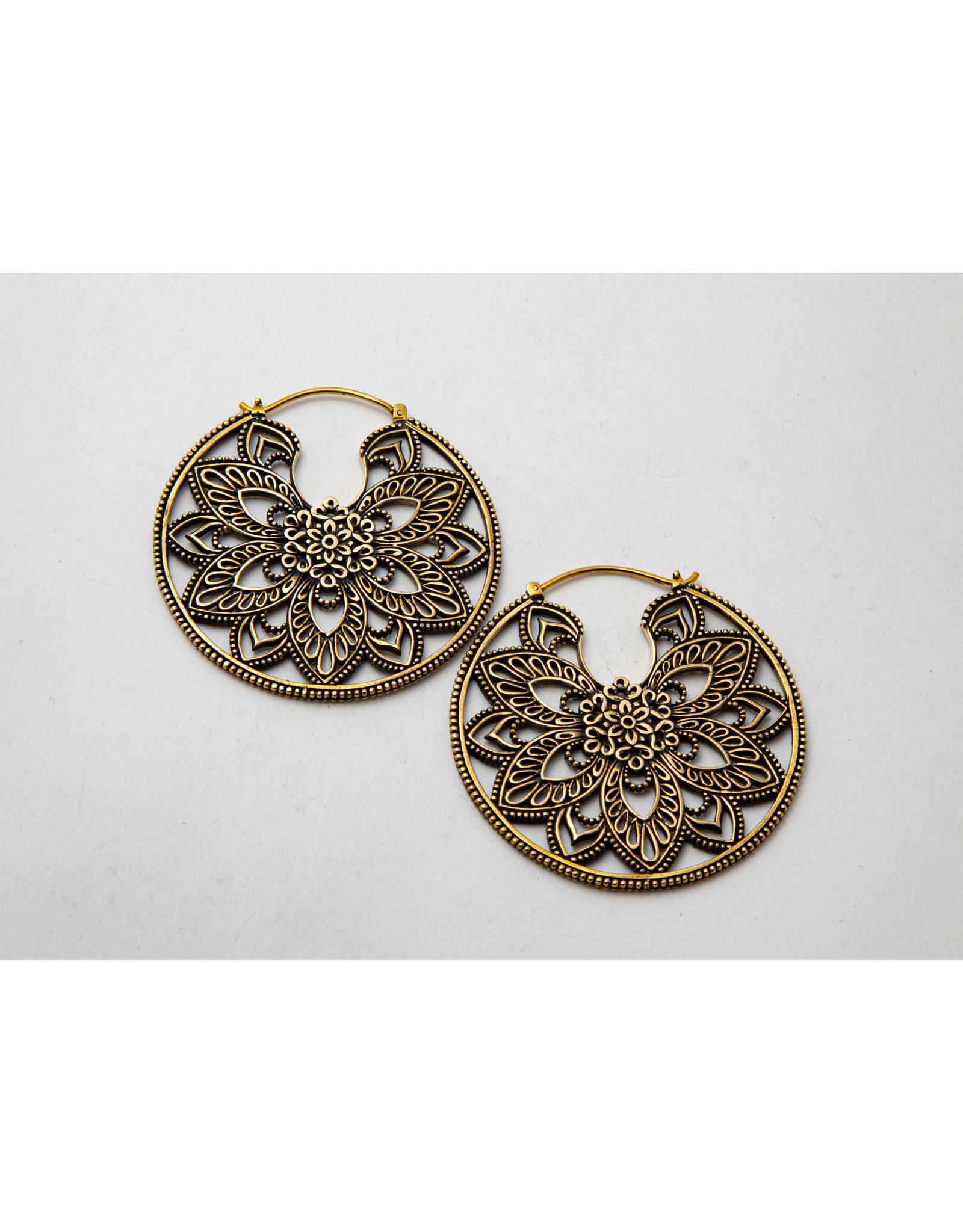 "Maya Jewelry Maya brass ""Undulate"" hanging design"