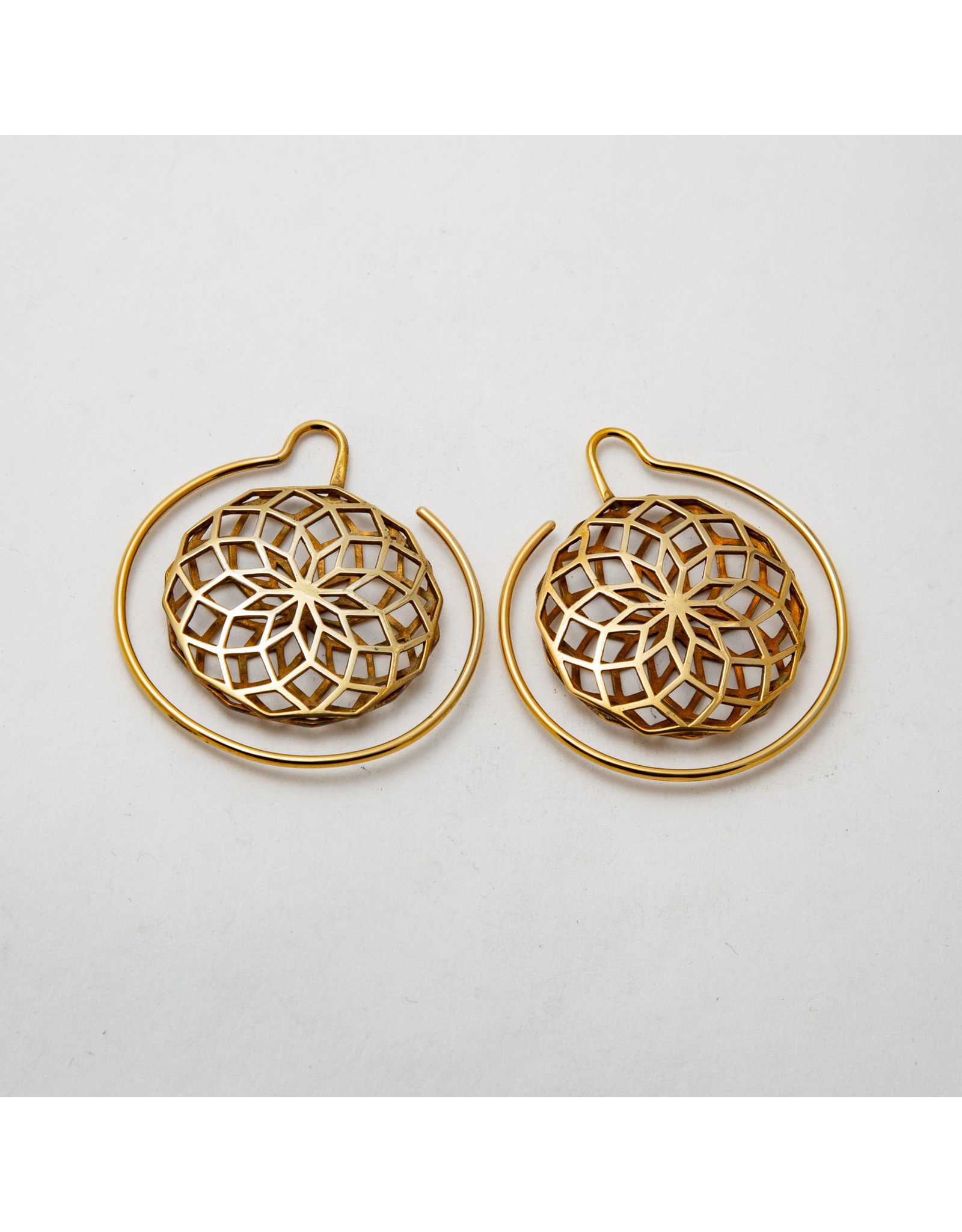 "Maya Jewelry Maya yellow gold plate ""Daydreamer"" hanging design"