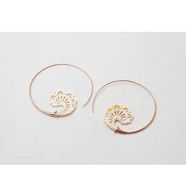 """Maya Jewelry Maya Rose Gold Plate & Bone """"Paisley"""""""