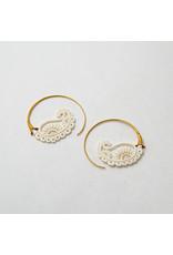Maya Jewelry Maya yellow gold plate & bone Merry-go-round traditional earring