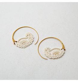 """Maya Jewelry Maya yellow gold plate & bone """"Merry-Go-Round"""""""