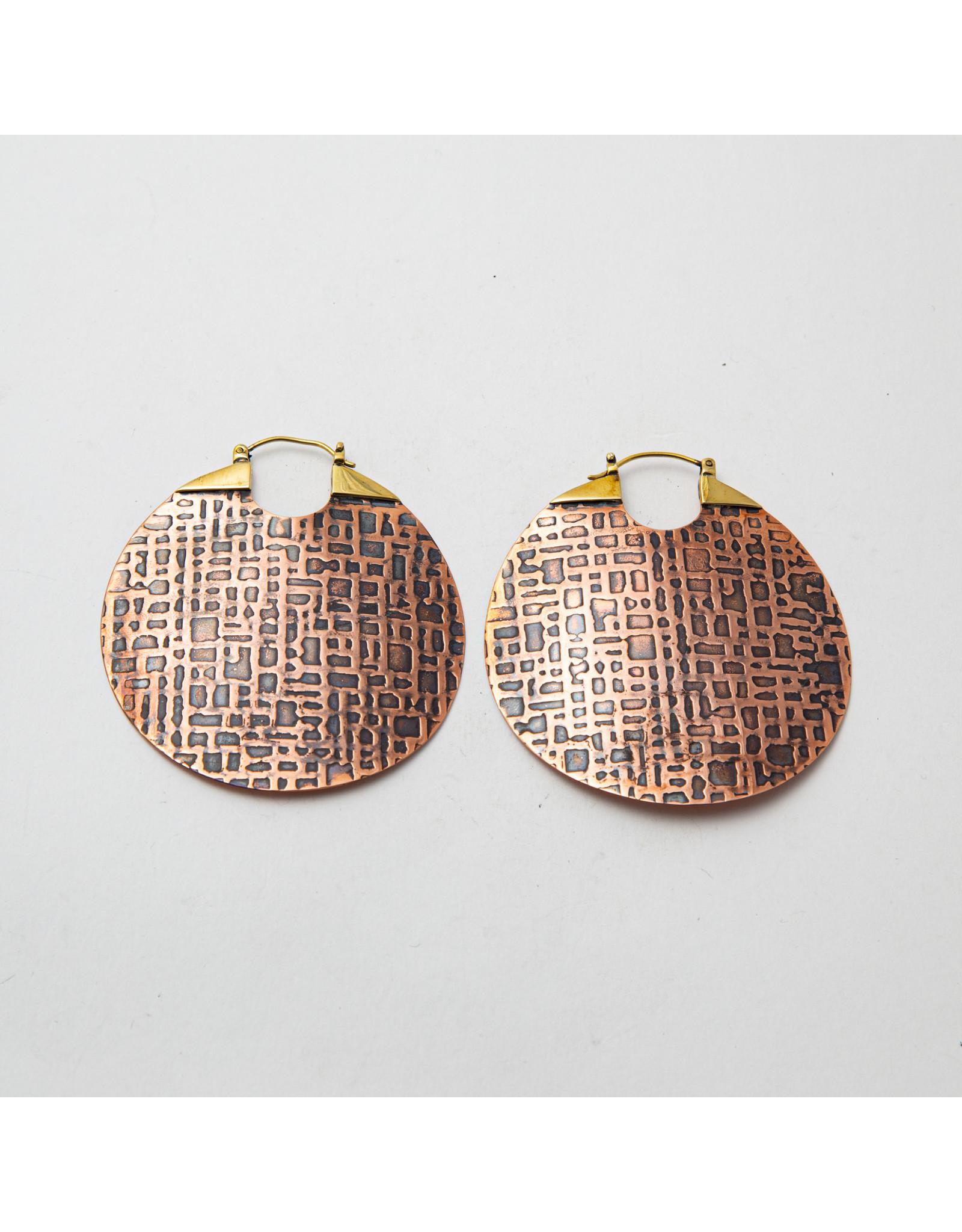 Maya Jewelry Maya copper Between the lines hanging design