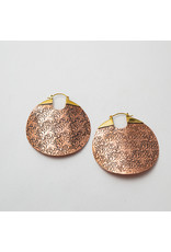 "Maya Jewelry Maya copper ""Between The Sheets""  traditional earring"