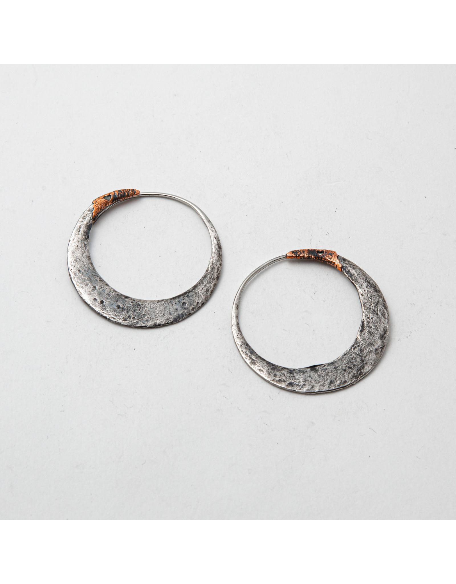 """Maya Jewelry Maya white brass """"Junk Punk"""" traditional earring"""