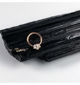 """BVLA 16g 3/8 Rose Gold 'Oceane"""" Seam Ring"""