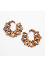 "Maya Jewelry Maya 4g Zebrawood ""Vetiver""  hanging design"