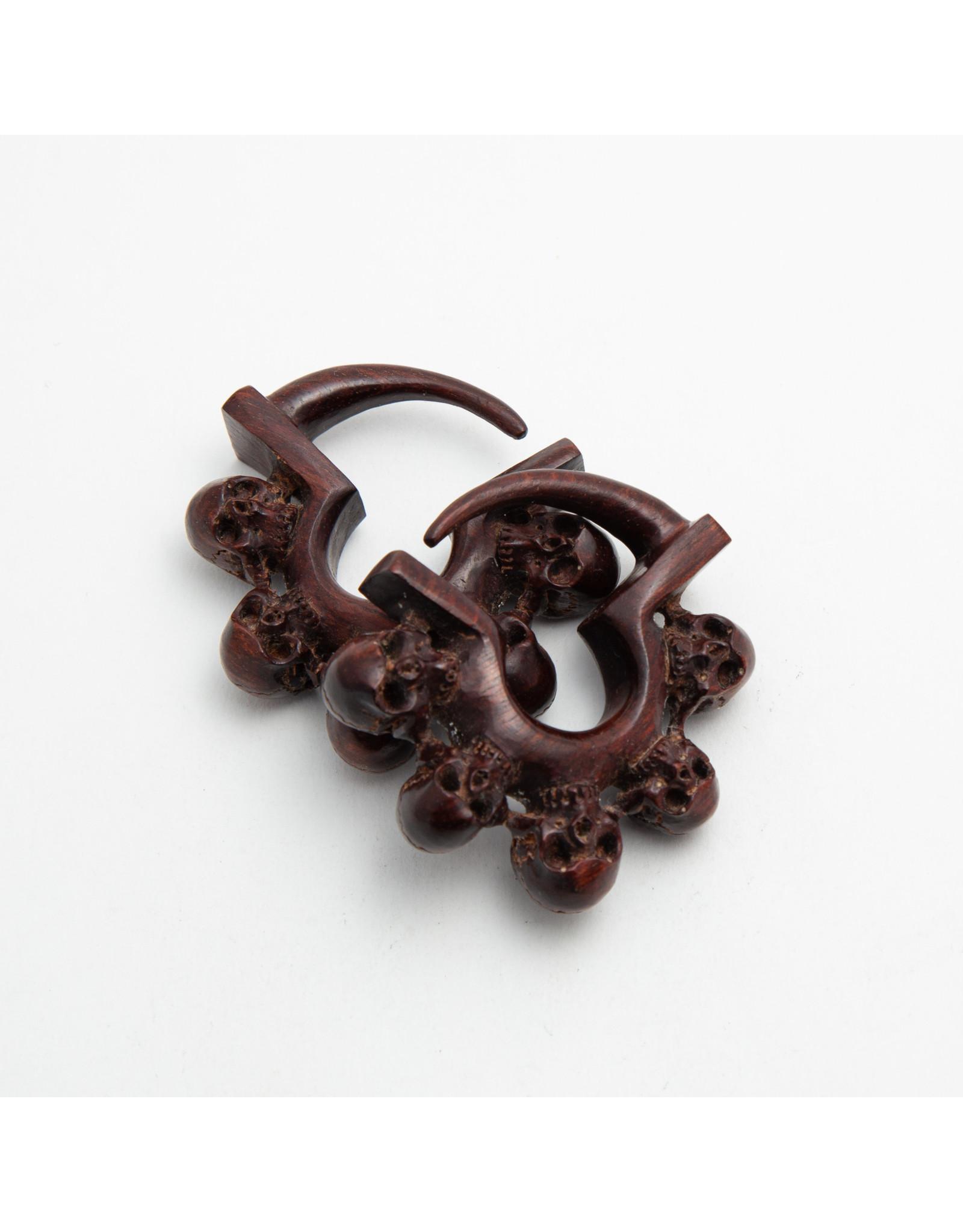 "Maya Jewelry Maya 6g bloodwood ""Kali-Ma"" hanging design"