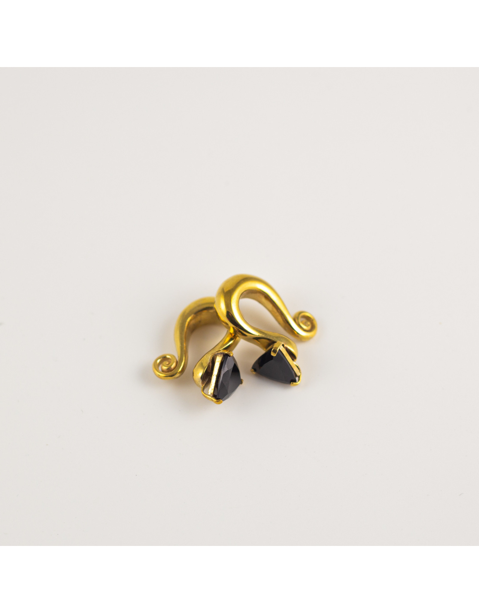 Diablo Organics Diablo Organics brass curled weights with faceted onyx