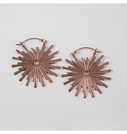 "Buddha Jewelry Organics BJO Rose Gold large ""Galaxy"" earrings"