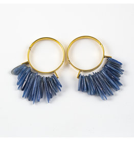 "Buddha Jewelry Organics BJO Brass ""Aurora"" Hoops"
