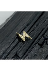 "BVLA BVLA ""Micro Pave Lightning Bolt"" threaded end with 7x 1.0 CZ"