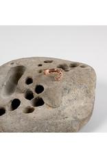 "Interstellar Jewelry Productions Interstellar Jewelry 14g 7/16 rose gold embossed ""Regulus"" conch seam ring"