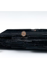 "BVLA BVLA rose gold ""Trixy"" eye threaded end with 1.5 reverse-set black diamond"