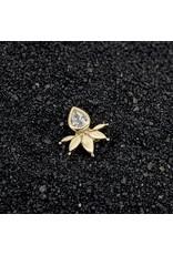 "Buddha Jewelry Organics Buddha Jewelry Organics  ""Lavish"" with CZ press-fit end"