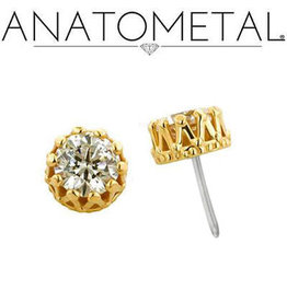 "Anatometal ""King"" Crown Set Gem"