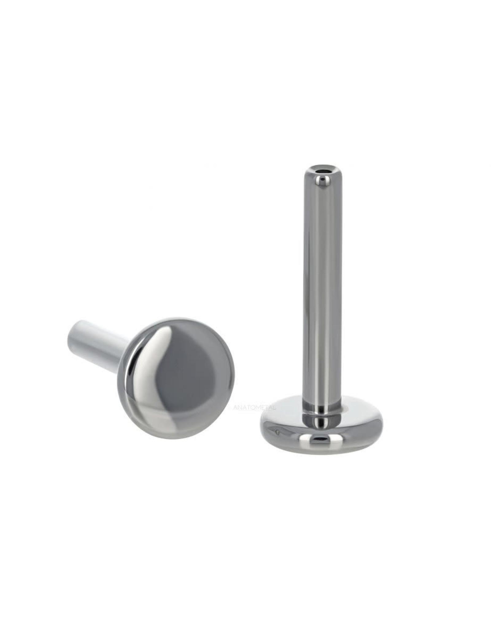 Anatometal 18g internally threaded titanium flatback with 3.0 disk
