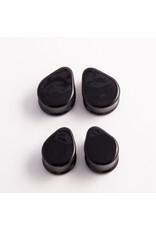 Glasswear studios Glasswear Studios black teardrop double flared plug