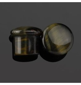 Diablo Organics Diablo Organics Single Flared Blue Tiger's Eye Plug