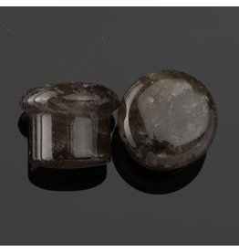 Diablo Organics Diablo Organics Single Flared Smoky Quartz Plug
