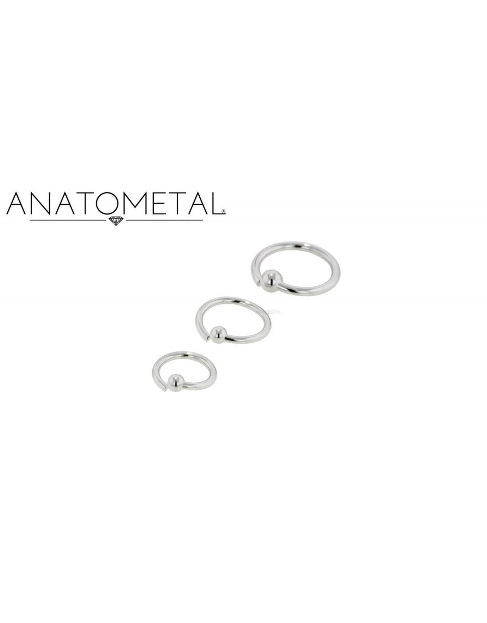 Anatometal Anatometal 18g Steel Fixed Bead Ring
