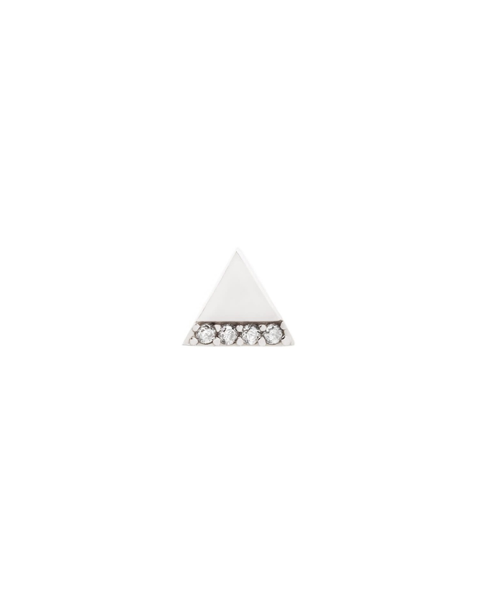 """Buddha Jewelry Organics Buddha Jewelry Organic gold """"Love Triangle"""" press fit end with CZ"""