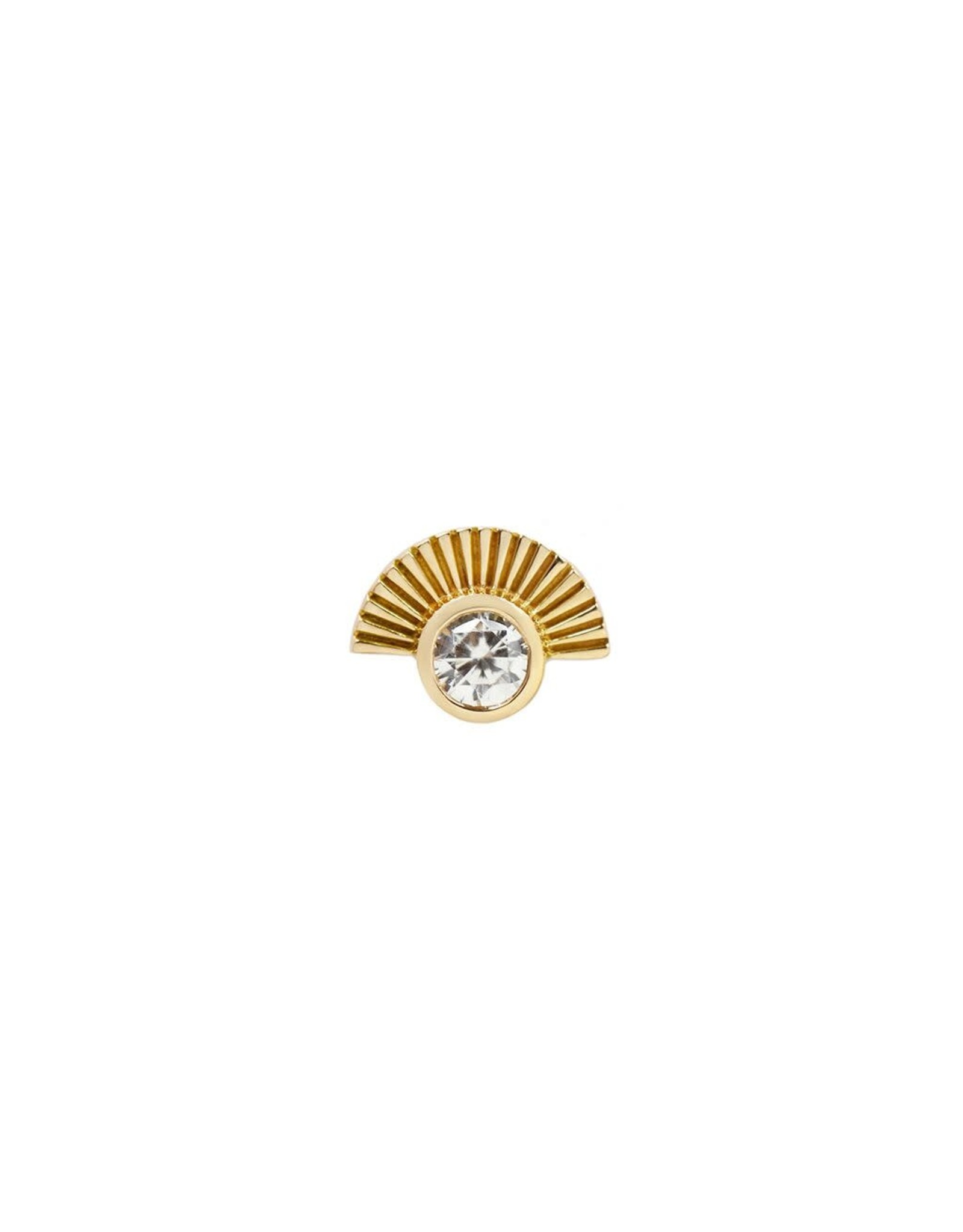"""Buddha Jewelry Organics Buddha Jewelry Organics gold """"Kahlo"""" press fit end with CZ"""