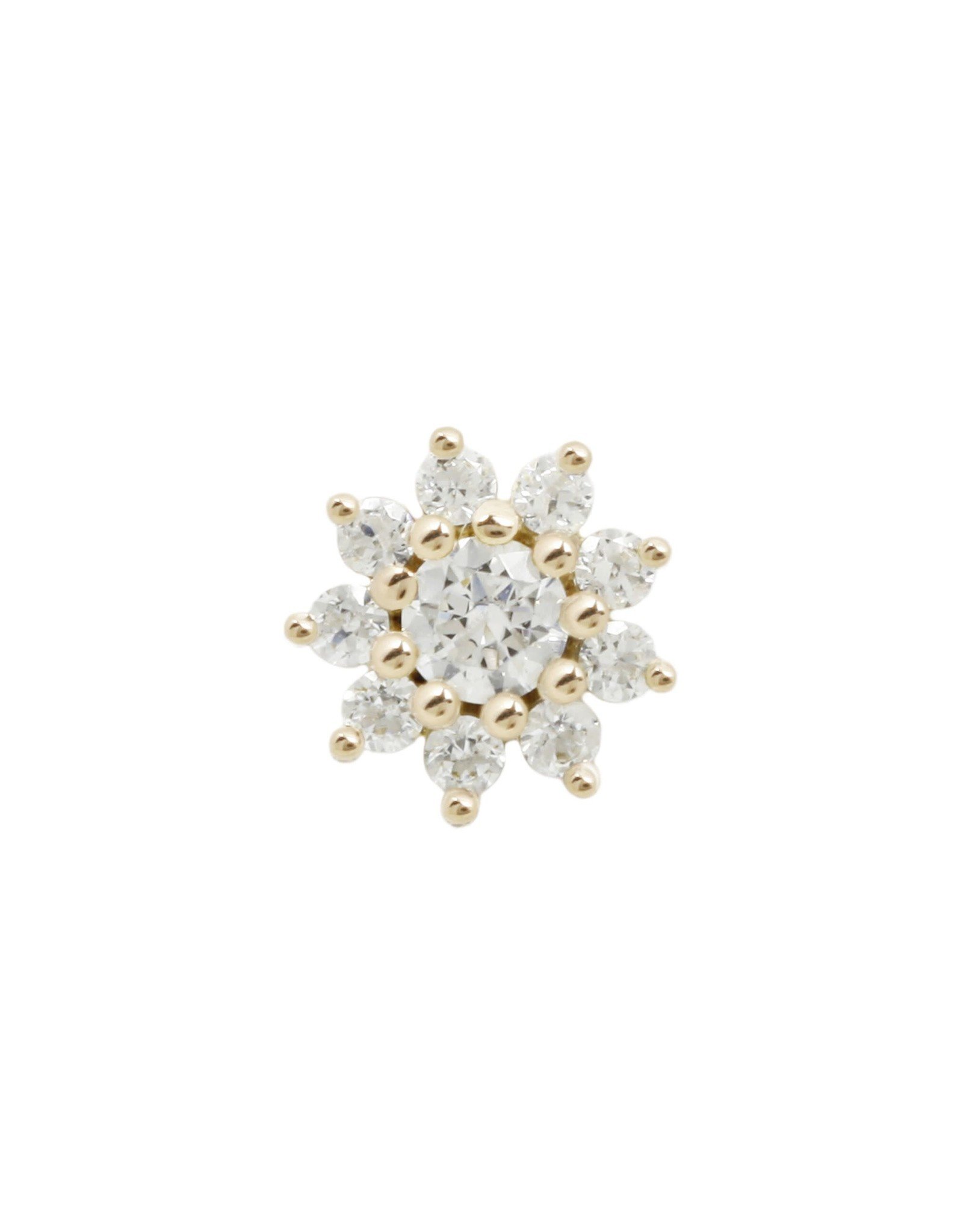"""Buddha Jewelry Organics Buddha Jewelry Organics """"Eloise"""" press fit end with CZ"""