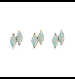 """Buddha Jewelry Organics BJO """"Double Zuri"""" with White Opal"""