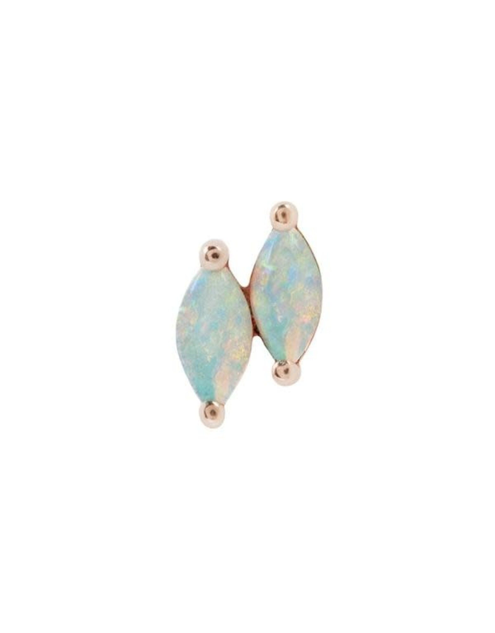 """Buddha Jewelry Organics Buddha Jewelry Organics """"Double Zuri"""" press-fit end with Marquise White Opal"""