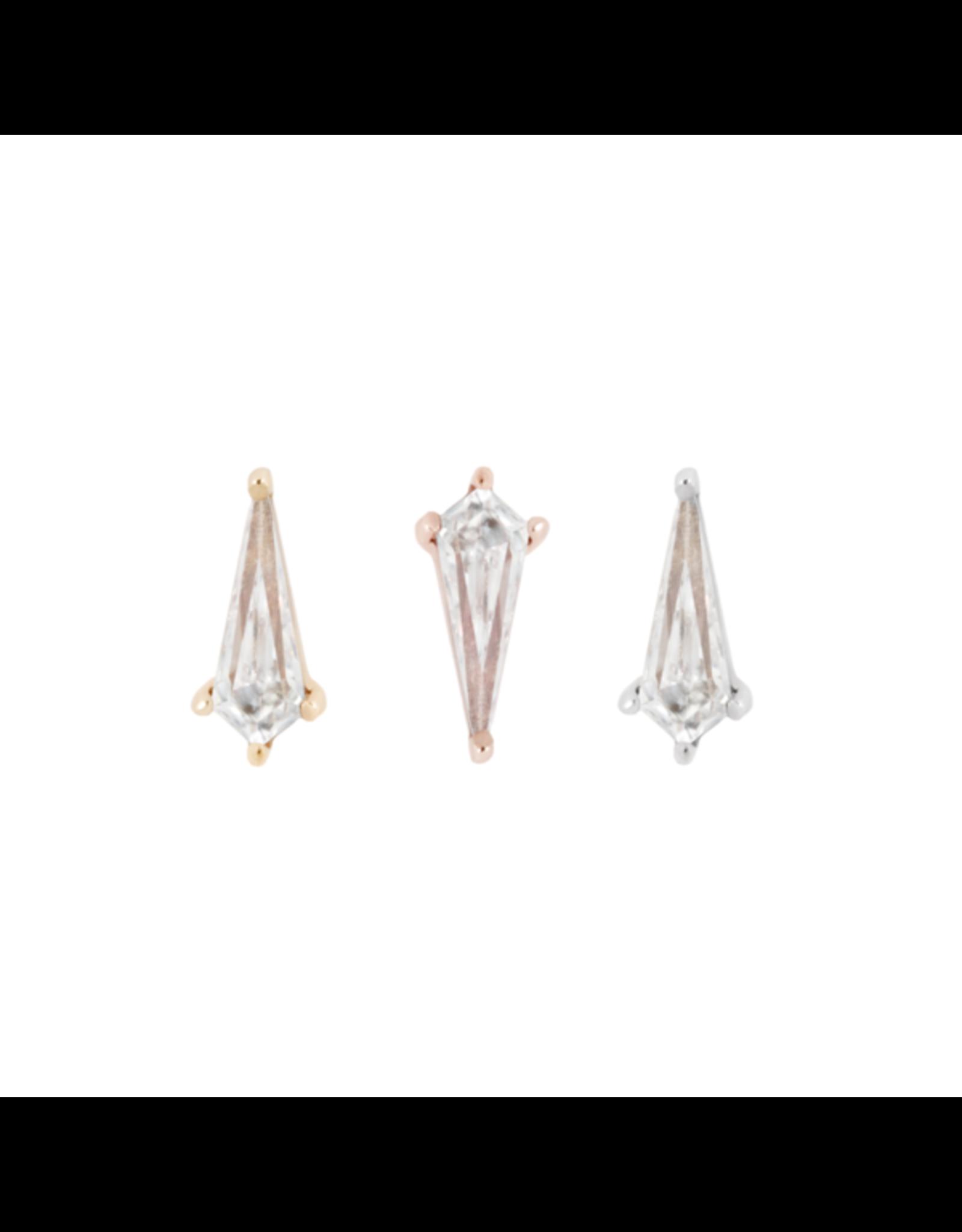 "Buddha Jewelry Organics  Buddha Jewelry Organics  ""Soho"" press-fit end with 8x3.5 kite cut CZ"