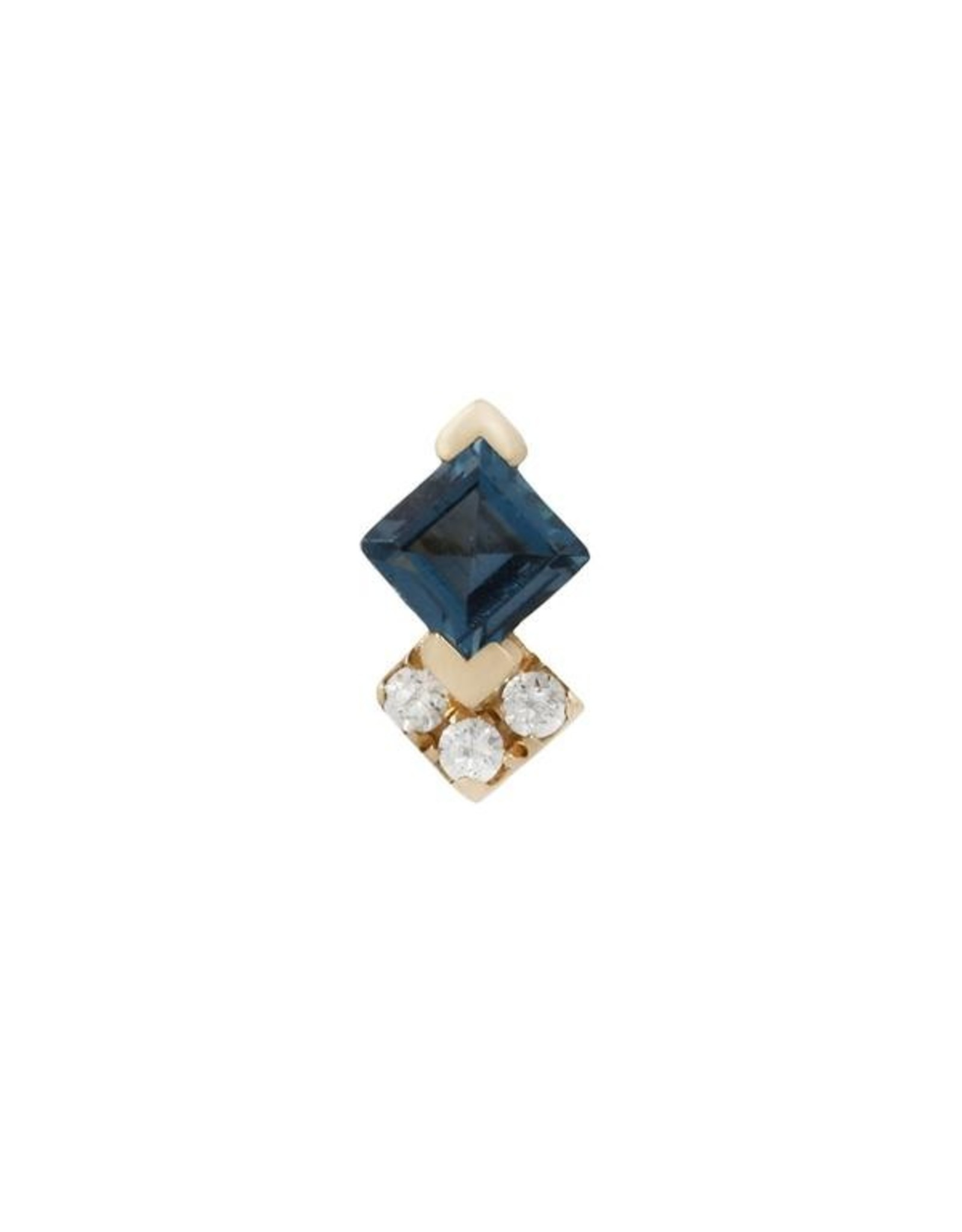 """Buddha Jewelry Organics Buddha Jewelry Organics """"Vivienne"""" press-fit end with London blue topaz and CZ"""
