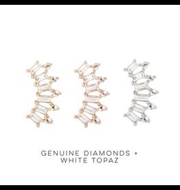 """Buddha Jewelry Organics BJO """"GSTQ"""" With Diamond & White Topaz"""
