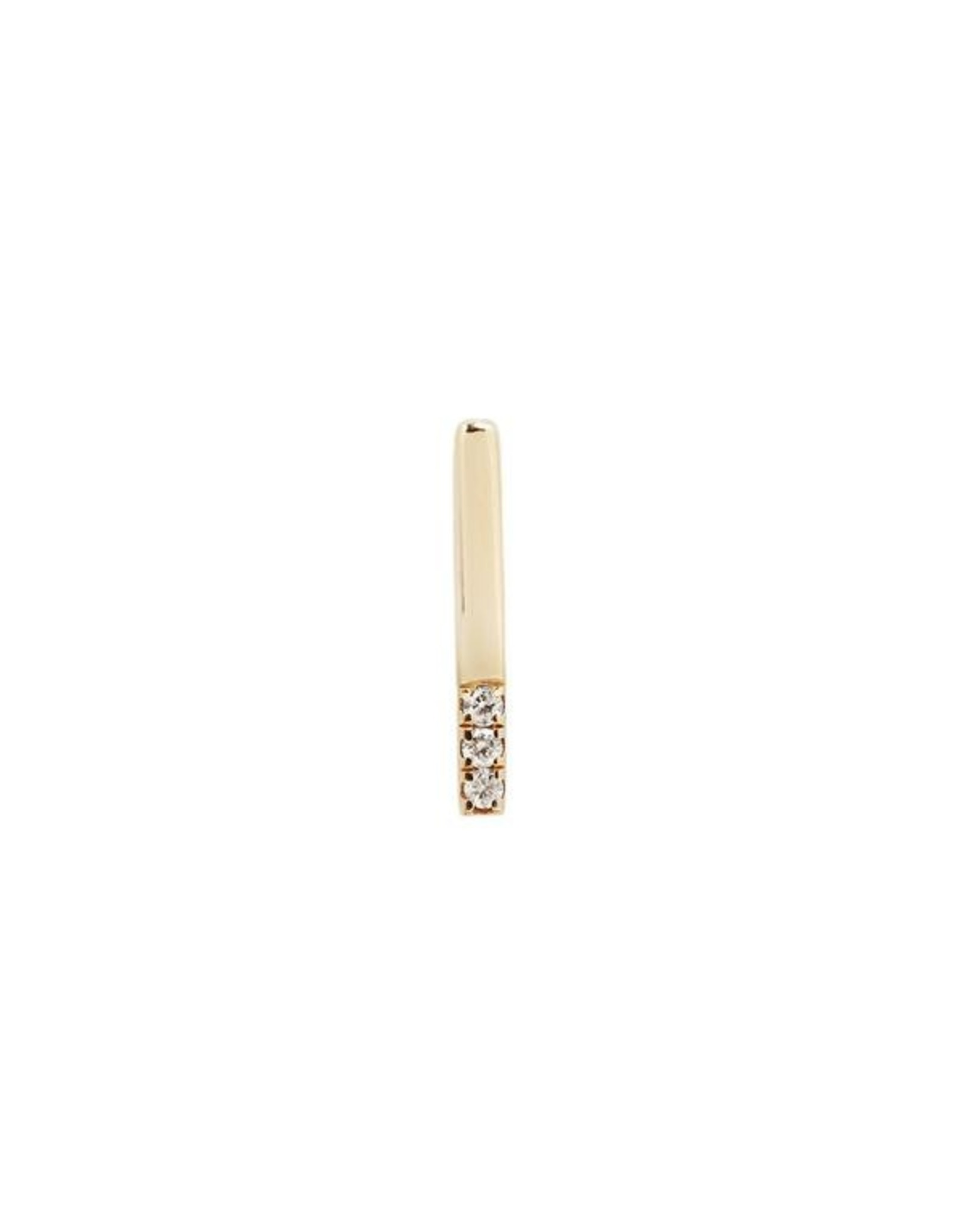 """Buddha Jewelry Organics Buddha Jewelry Organics gold """"Love Lines"""" press fit end with CZ"""