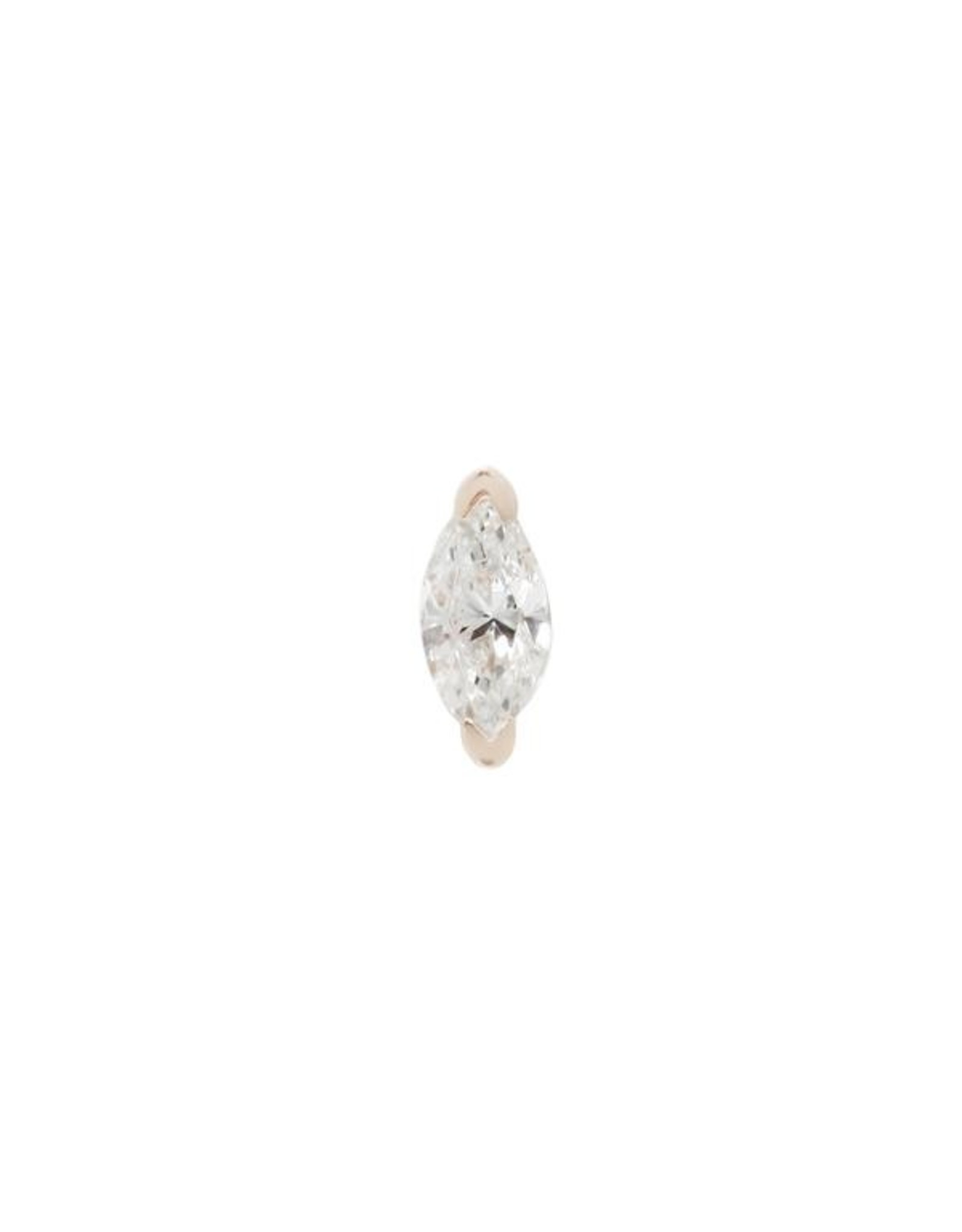 """Buddha Jewelry Organics Buddha Jewelry Organics """"Zuri"""" press fit end with marquise CZ"""