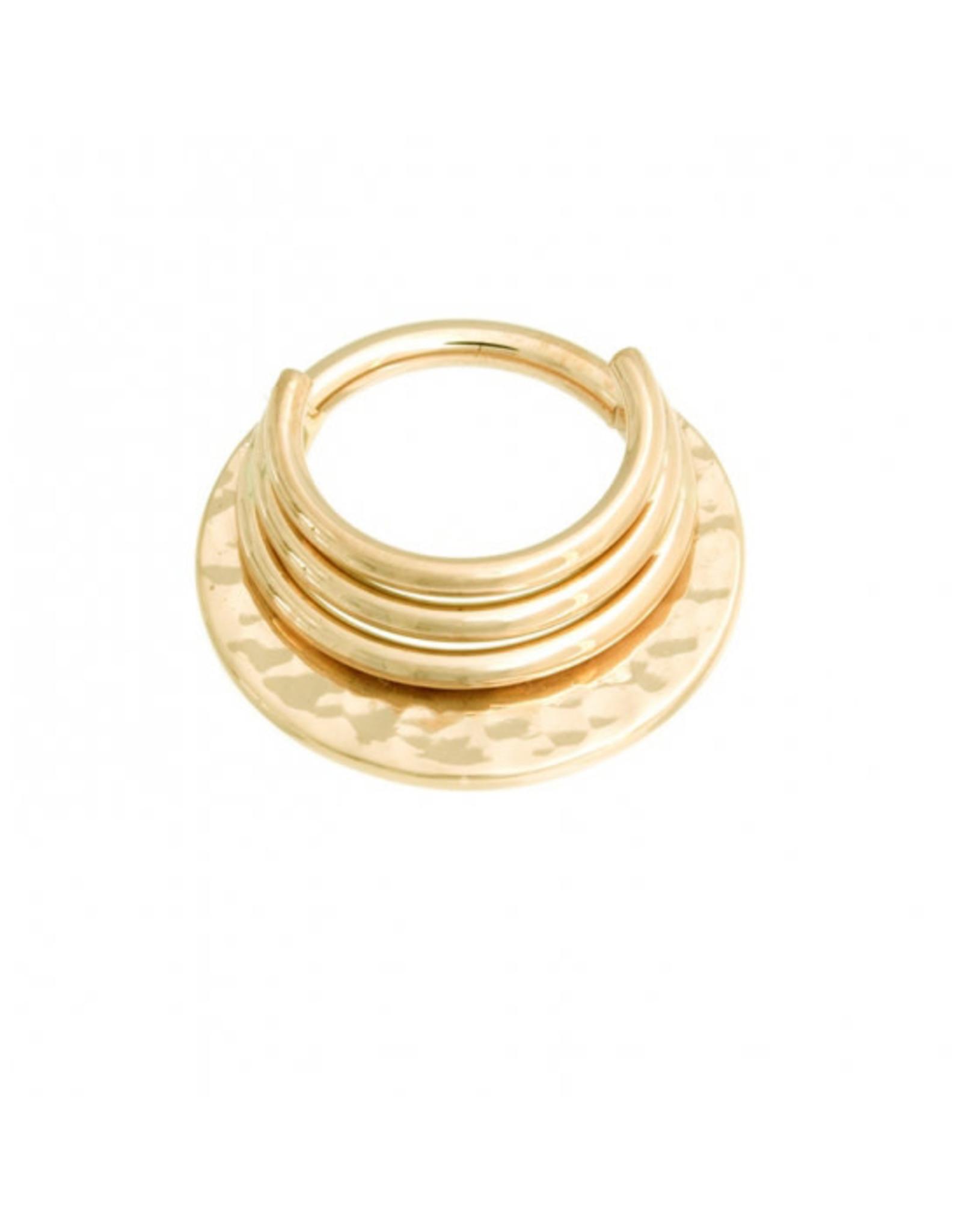 "BVLA BVLA 16g 5/16 yellow gold ""Hammered Noah"" clicker"