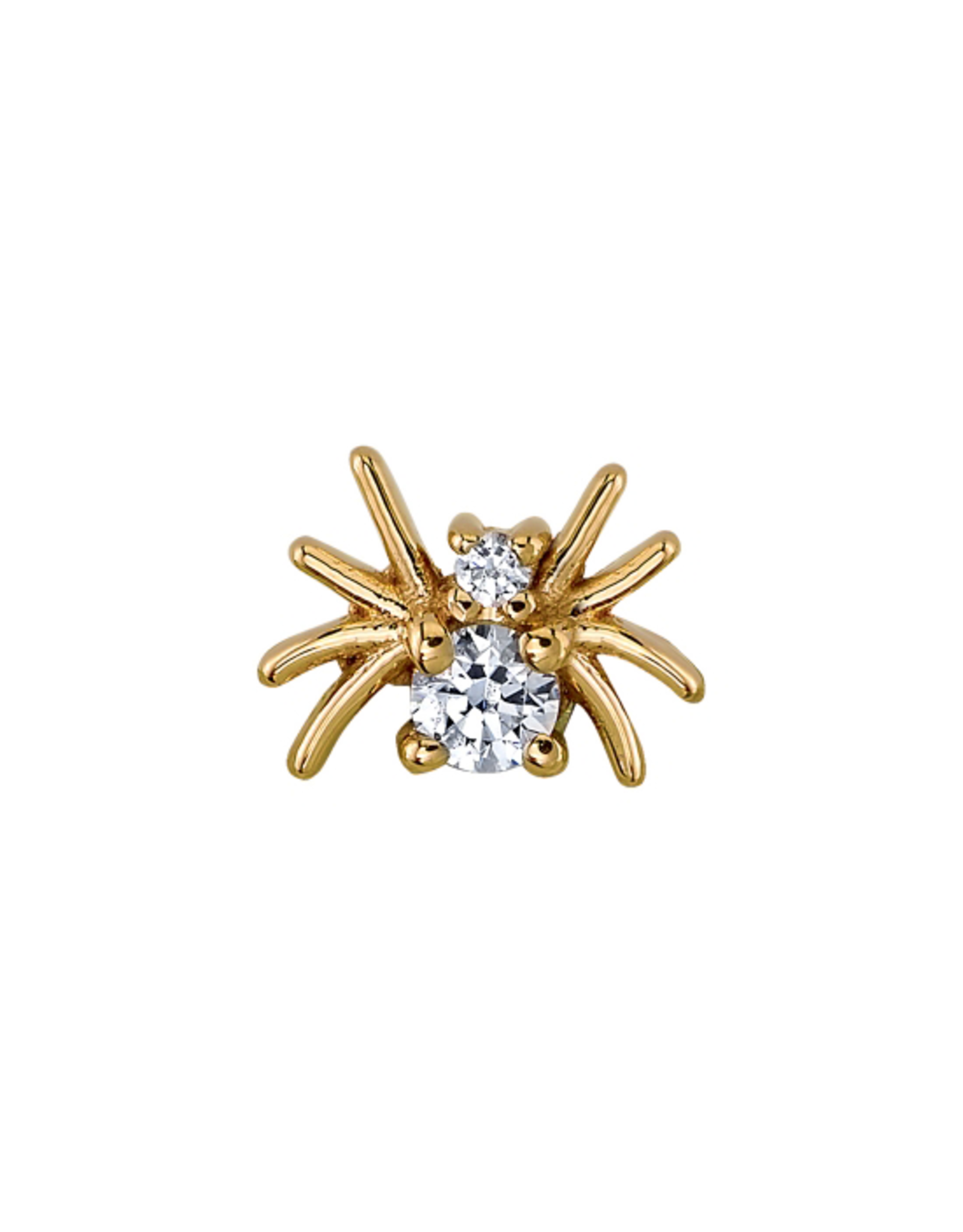 """BVLA BVLA yellow gold """"Octo"""" threaded end with 2.0 & 1.0 CZ"""