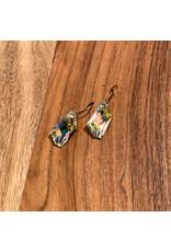 Diablo Organics Diablo Organics Aurora Borealis De-Art Swarovski crystal traditional earrings